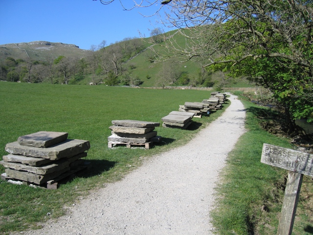 Footpath to Janet's Foss and Yorkstone Slabs - geograph.org.uk - 505852