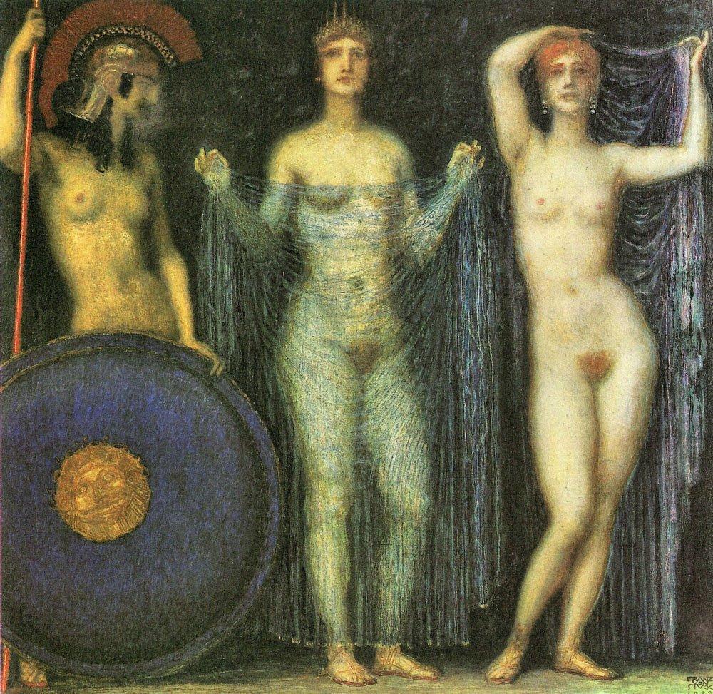 file franz von stuck the three goddesses athena hera and