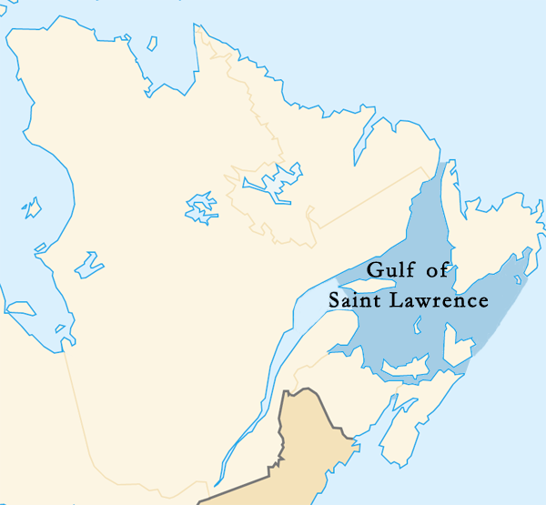 The Gulf of Saint Lawrence on a Canada map. Golfe Saint-Laurent en.png