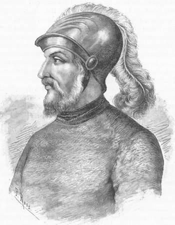 Depiction of Gonzalo de Sandoval