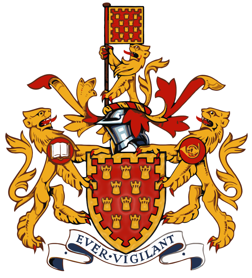 The coat of arms of the former Greater Manchester Council, which was abolished in 1986