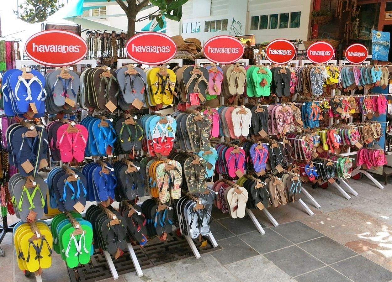 1b52ad50b63093 Havaianas flip-flops displayed in a shop in Costa del Sol
