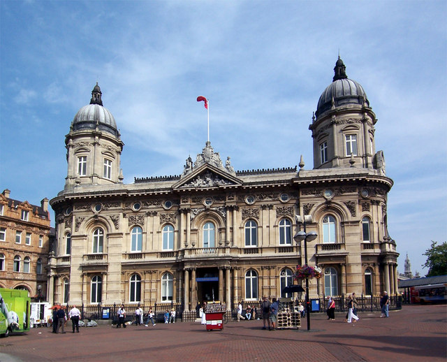 Hull Maritime Museum Hull, East Riding of Yorkshire, England. Maritime Museum (former Dock Office), Queen Victoria Square. Built 1867-71 by Christopher G. Wray in Venetian Renaissance style. For a picture of this building in 1903 see http://www.francisfrith.com/search/england/humberside/hull/photos/hull_49807.htm