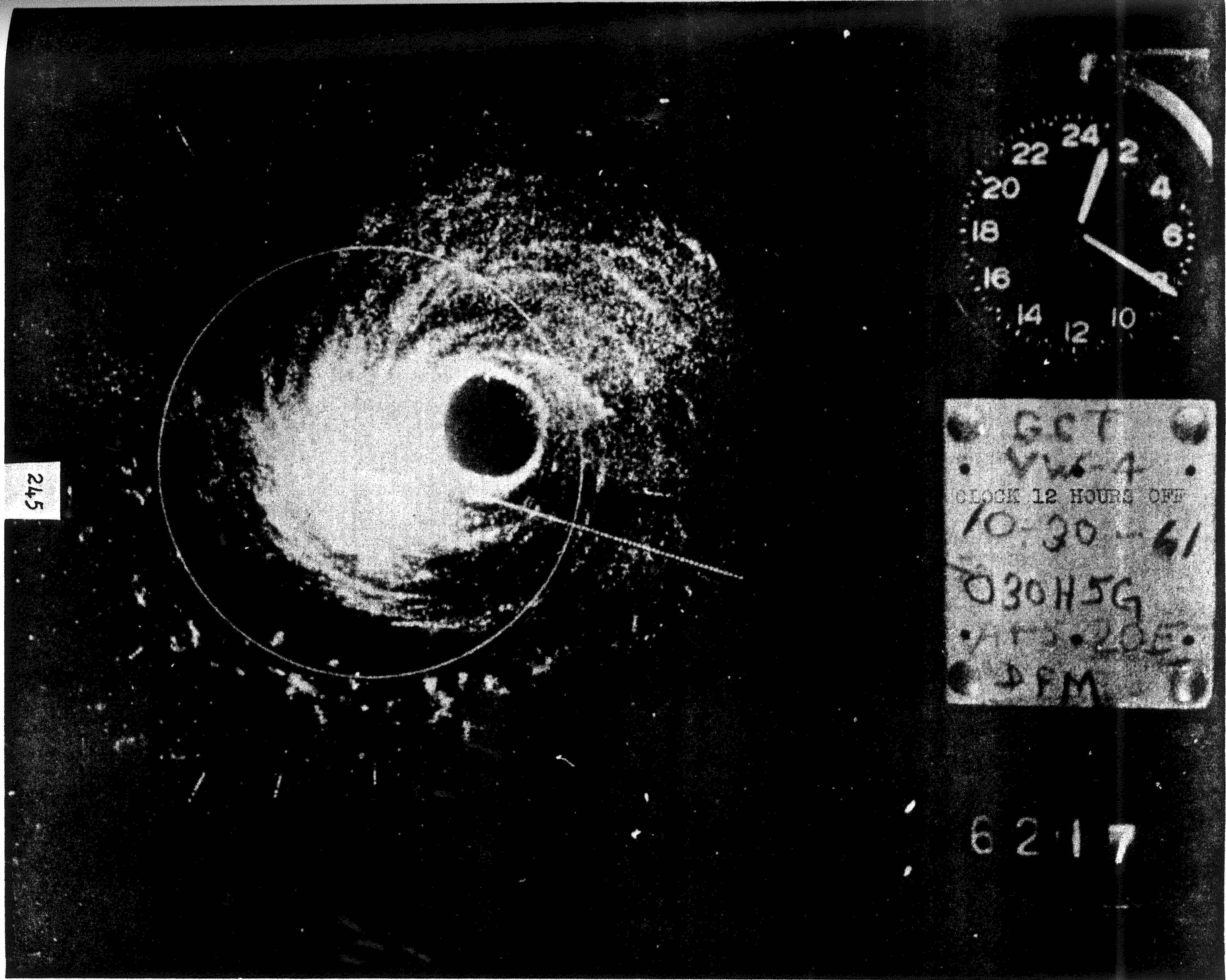 File Hurricane Hattie Radar 30 Oct 1961 Jpg Wikimedia