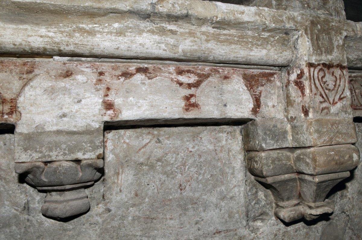 File interieur rand onder de omloop in de tamboer van het gewelf