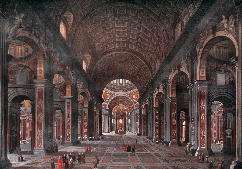 File Interior Of St Peter S Rome Jpg Wikipedia