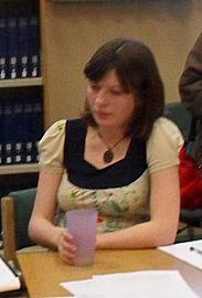 English: Photograph of Jenn Ashworth at a crea...