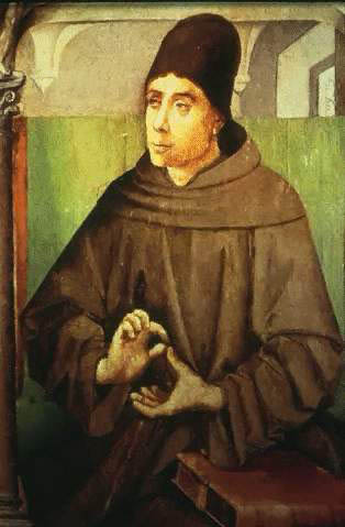 the Blessed John Duns Scotus was one of the Scholastic philosophers that most argued for the Immaculate Conception of the Virgin Mary. JohnDunsScotus - full.jpg
