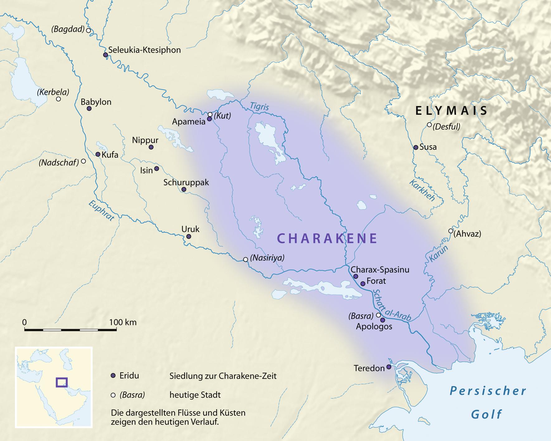 Babylon Karte.File Karte Charakene Png Wikimedia Commons