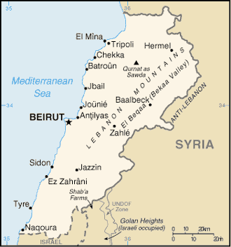 Cia world fact book 2004lebanon wikisource the free online library lebanon cia wfb map 2004g gumiabroncs Images