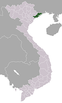 Location of Quảng Ninh Province