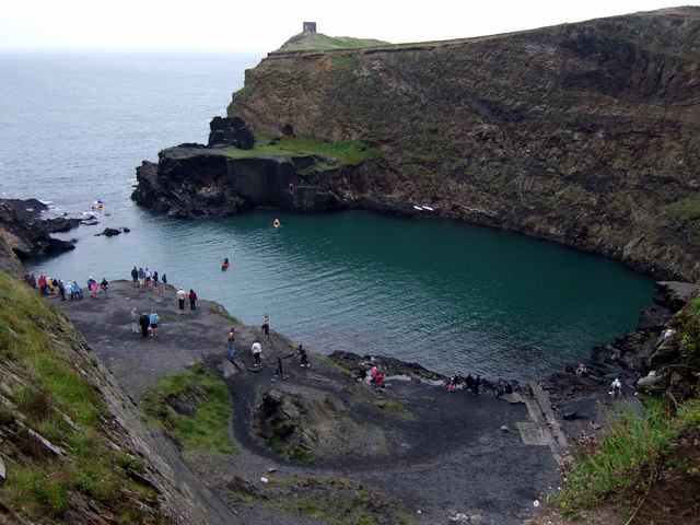 Looking down into the Blue Lagoon - geograph.org.uk - 939460
