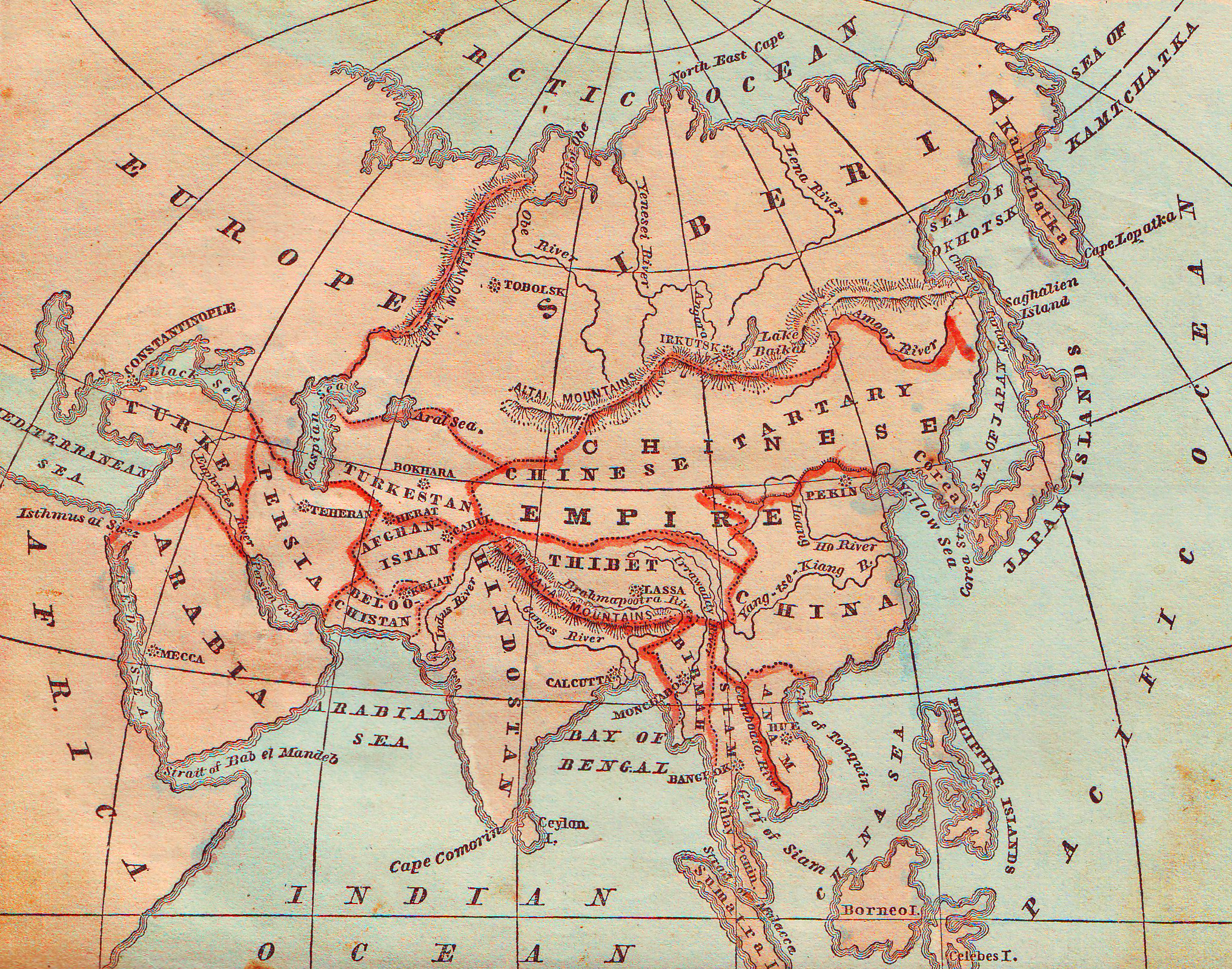 FileMap Od Asia Hand Colored Jpg Wikimedia Commons - Map od