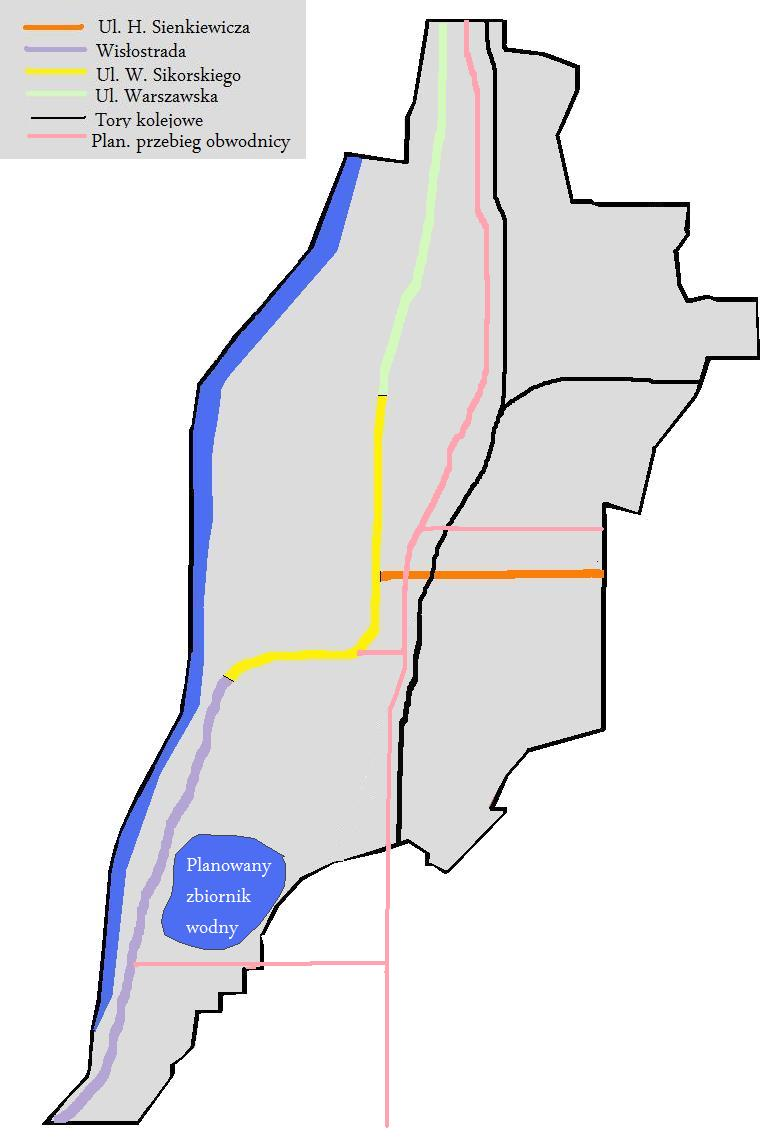 File Mapa Tarnobrzega Drogi Koleje Jpg Wikimedia Commons