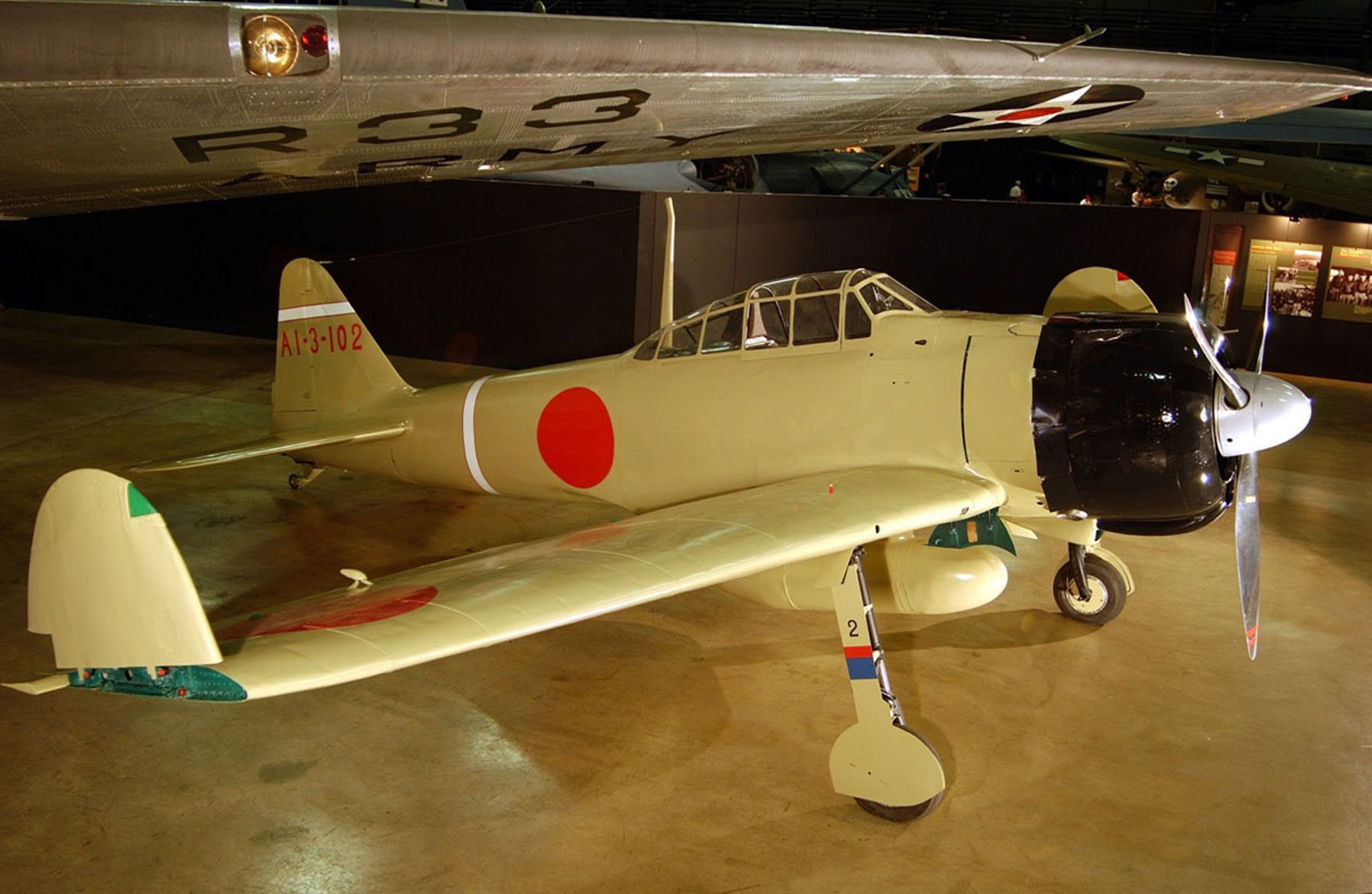 Japvtwinenginediagramjpg Mitsubishi A6m Zero Wikipedia A Propeller Aircraft On Display In Museum The Wing Tips Are Folded Up