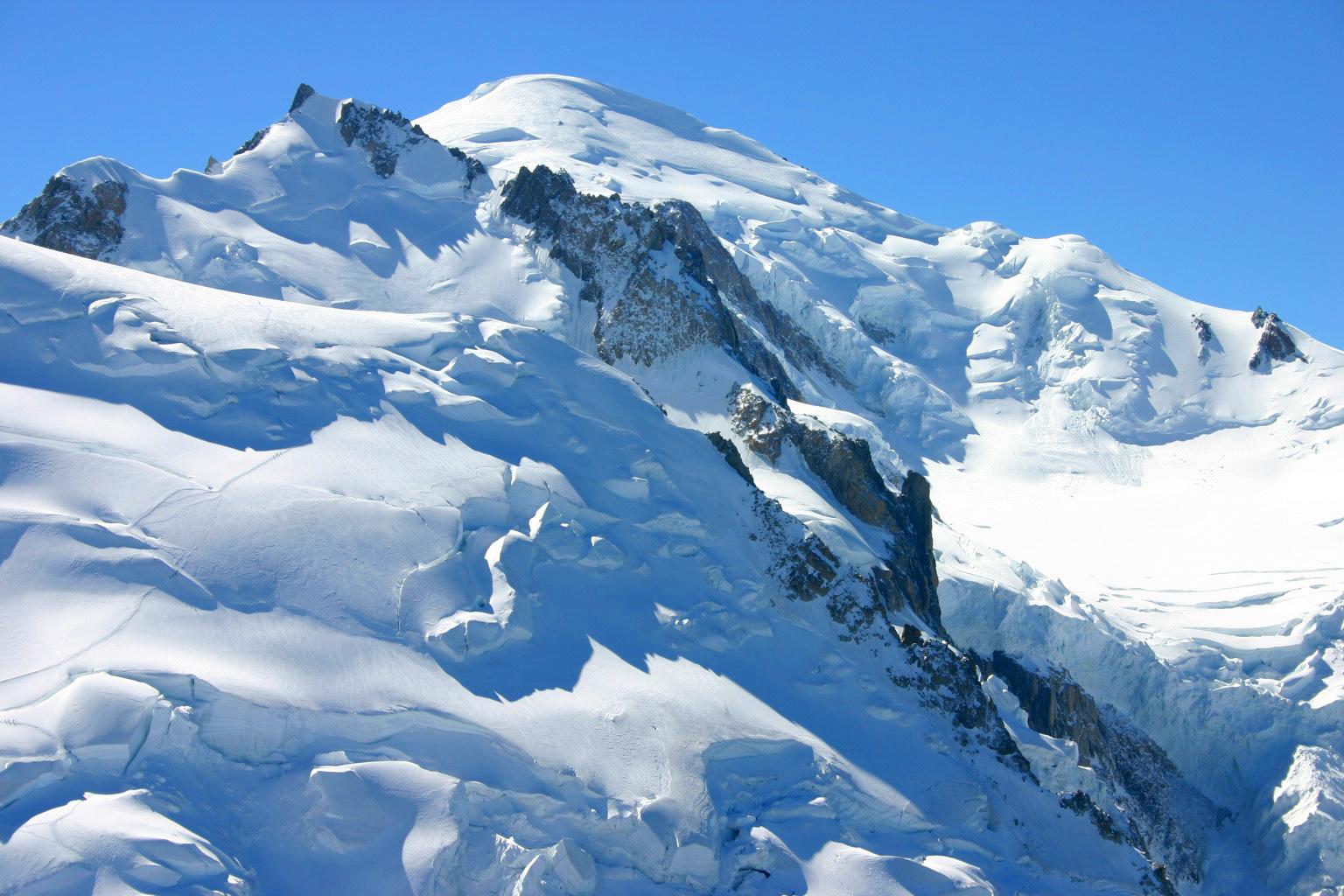 Afbeelding van het Mont Blanc gebergte.