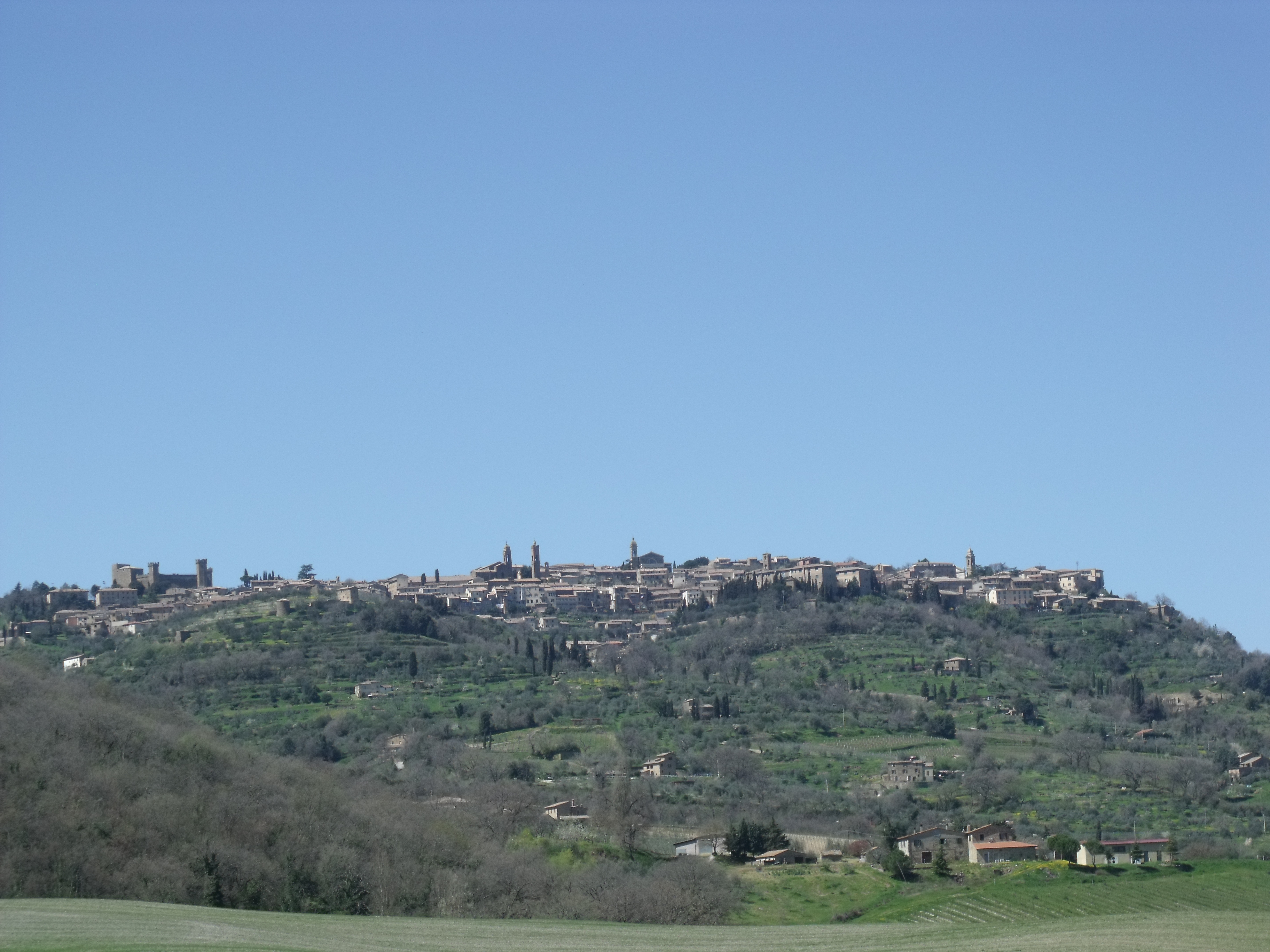 Montalcino, mediaeval village in the heart of the Brunello wine region in Southern Tuscany