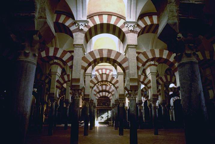 La grande mosquée de Cordoue, construite à partir de 785