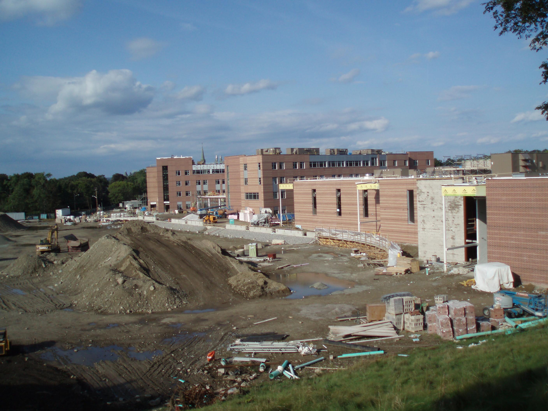 Description new newton north high school construction jpg