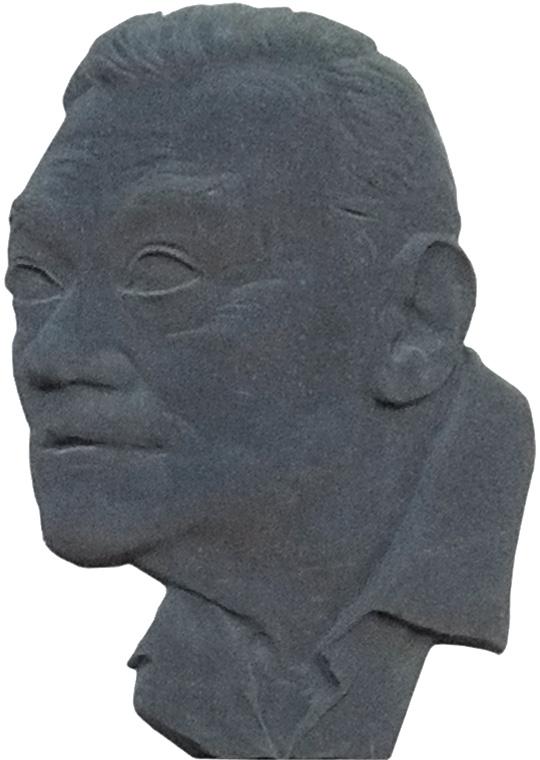 Memorial plaque in his native town