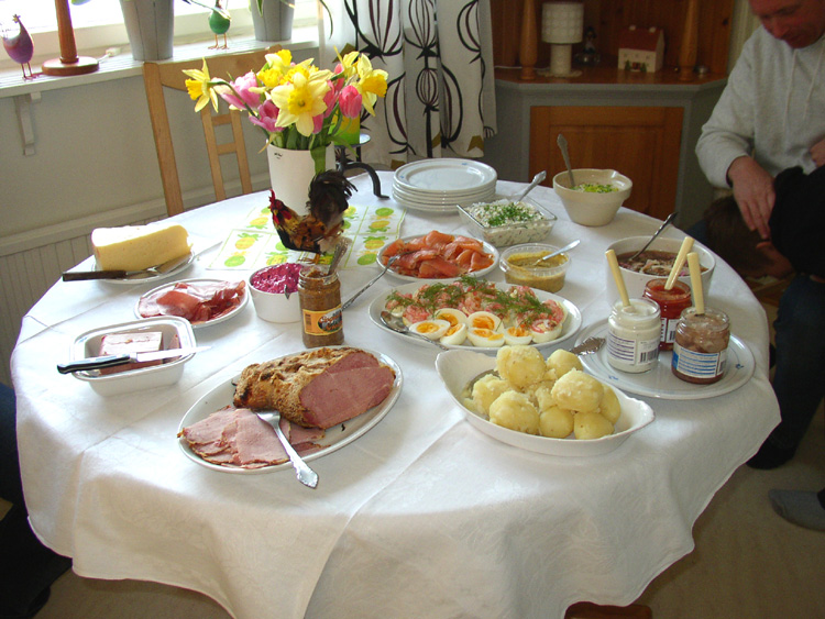 Påskmiddag-Swedish Easter dinner