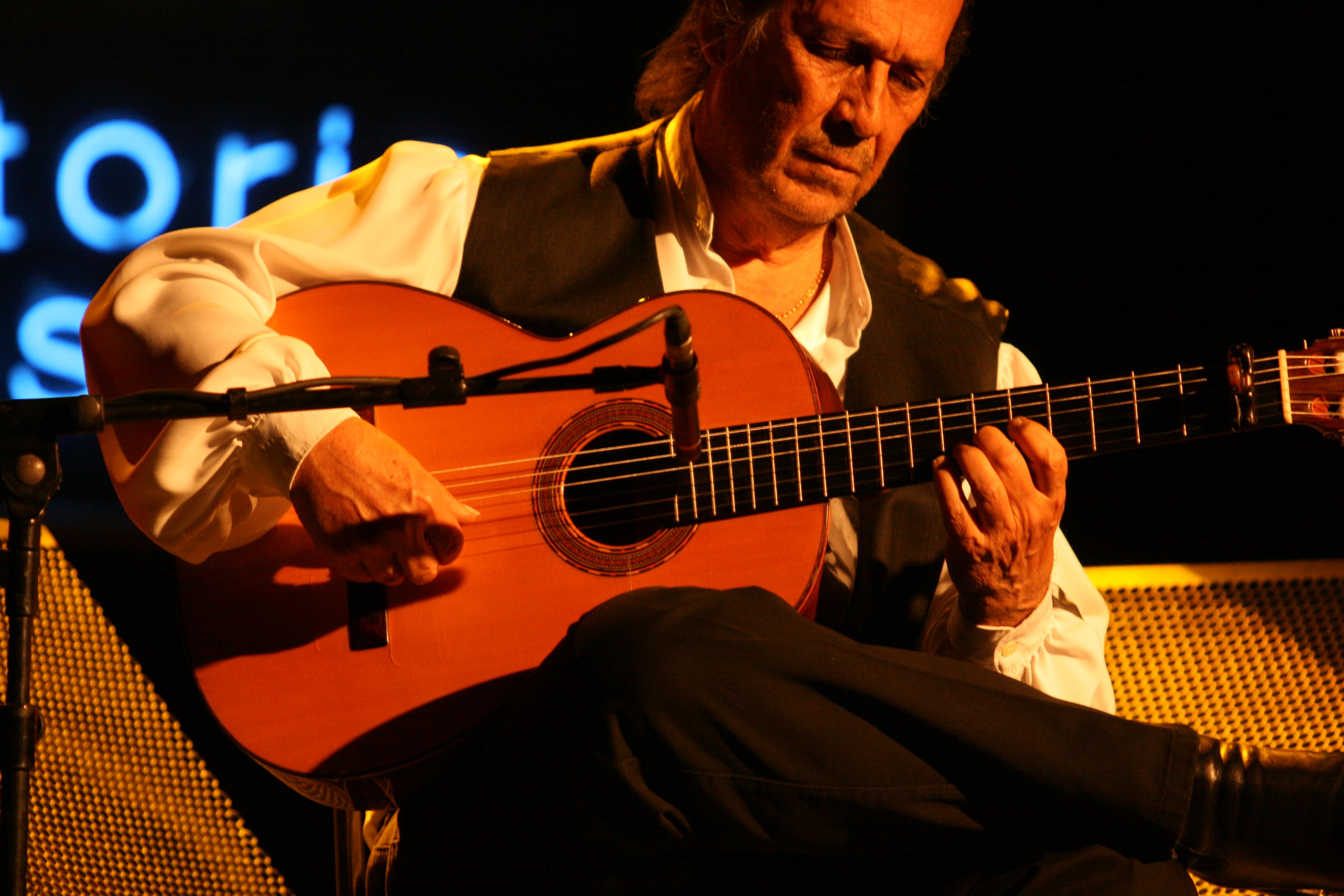 Paco de Lucía en el Vito Jazz Festival en julio de 2010.