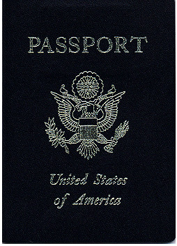 Cover of a passport of the United States