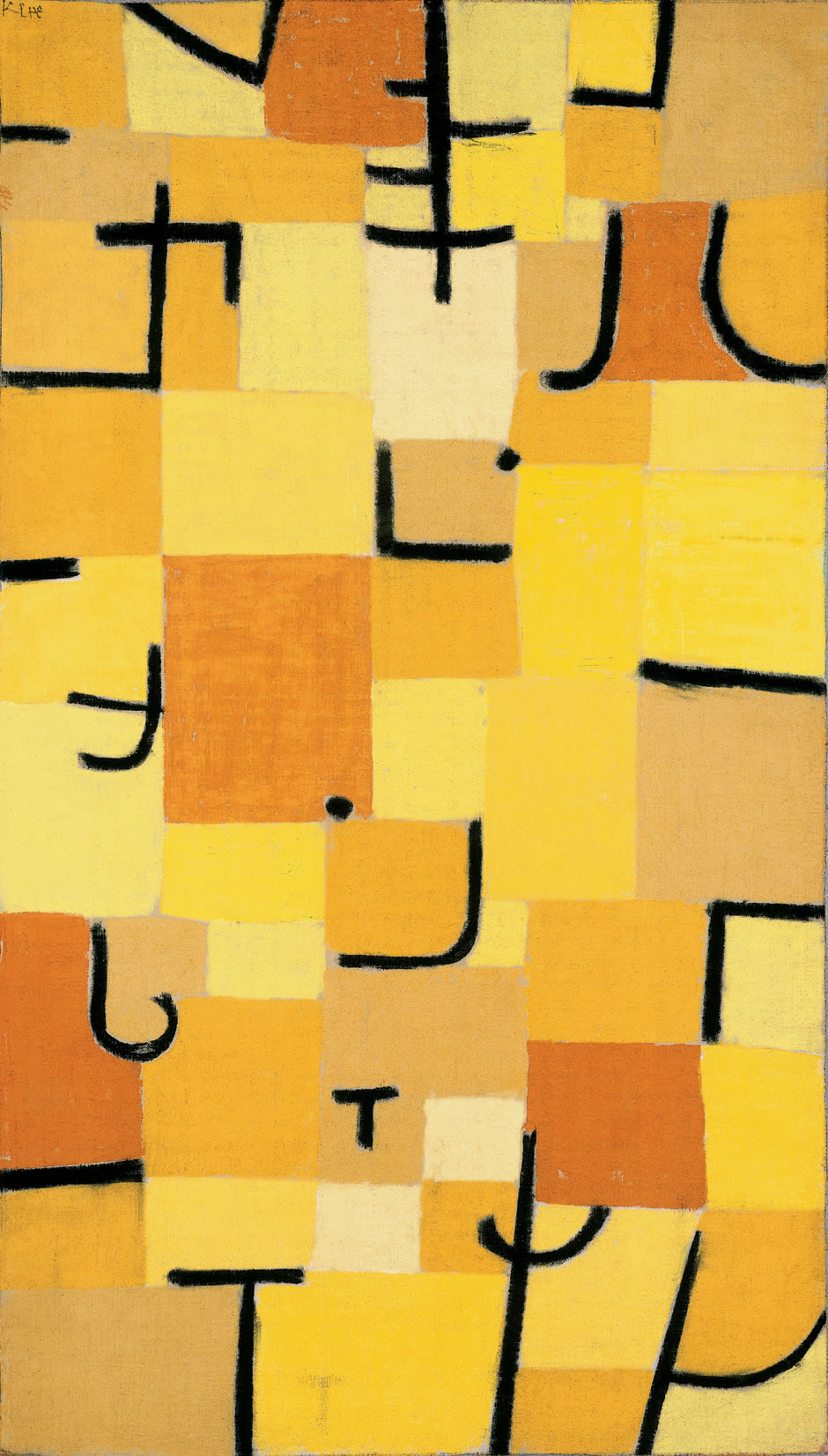 Signes en Jaune by Paul Klee, 1937
