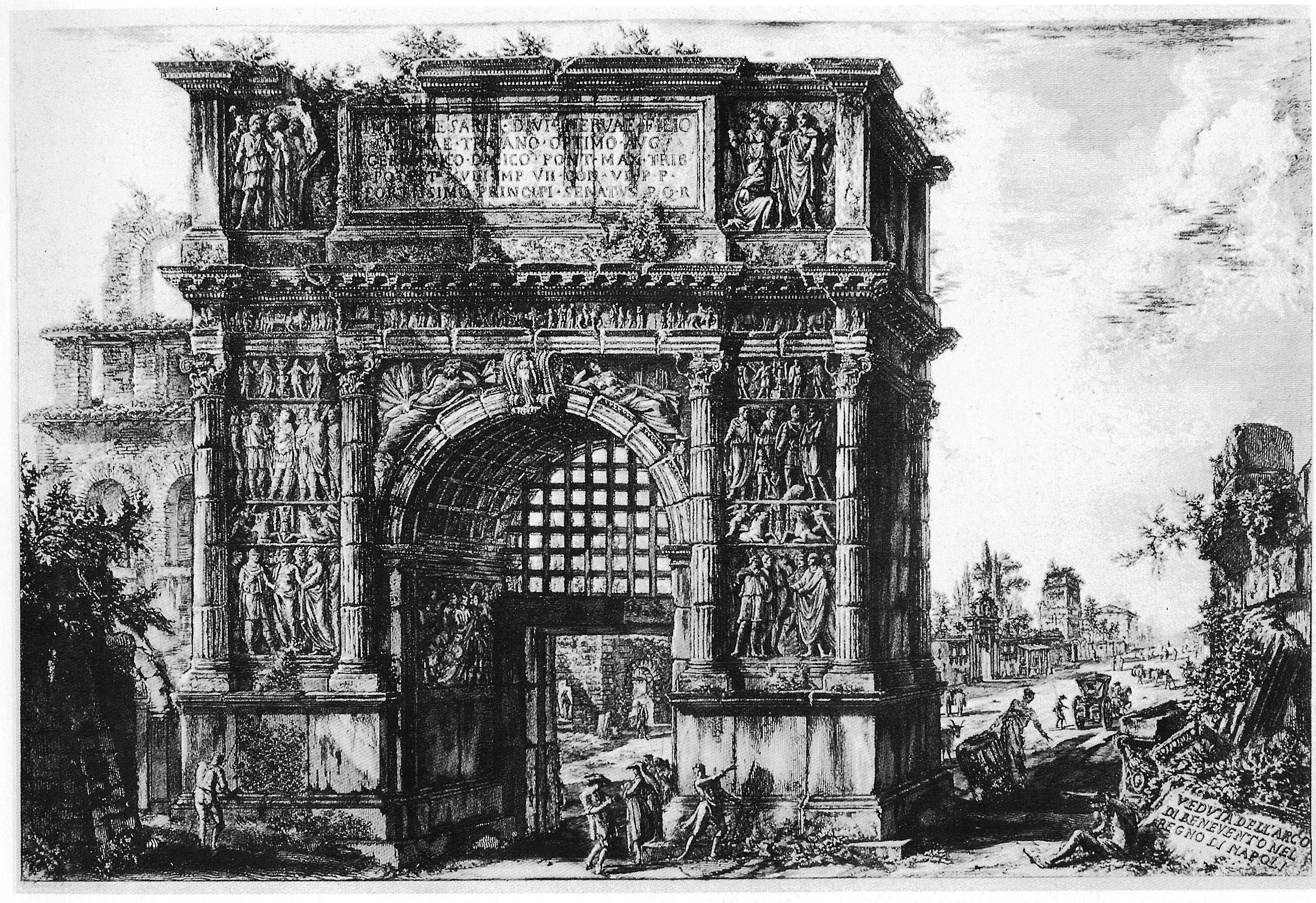 Villa speranza in memoriam piranesi alla romana antica for Cabina del tetto ad arco