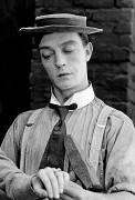 Actor Buster Keaton wearing one of his signature pork pie hats 6b7c32753d9