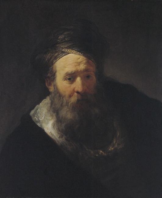 Old man with beard and turban