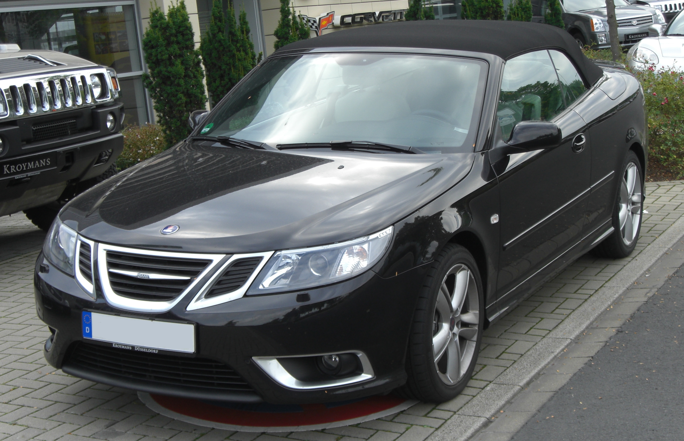 file saab 9 3 cabrio 1 9 ttid aero facelift front jpg wikimedia commons. Black Bedroom Furniture Sets. Home Design Ideas