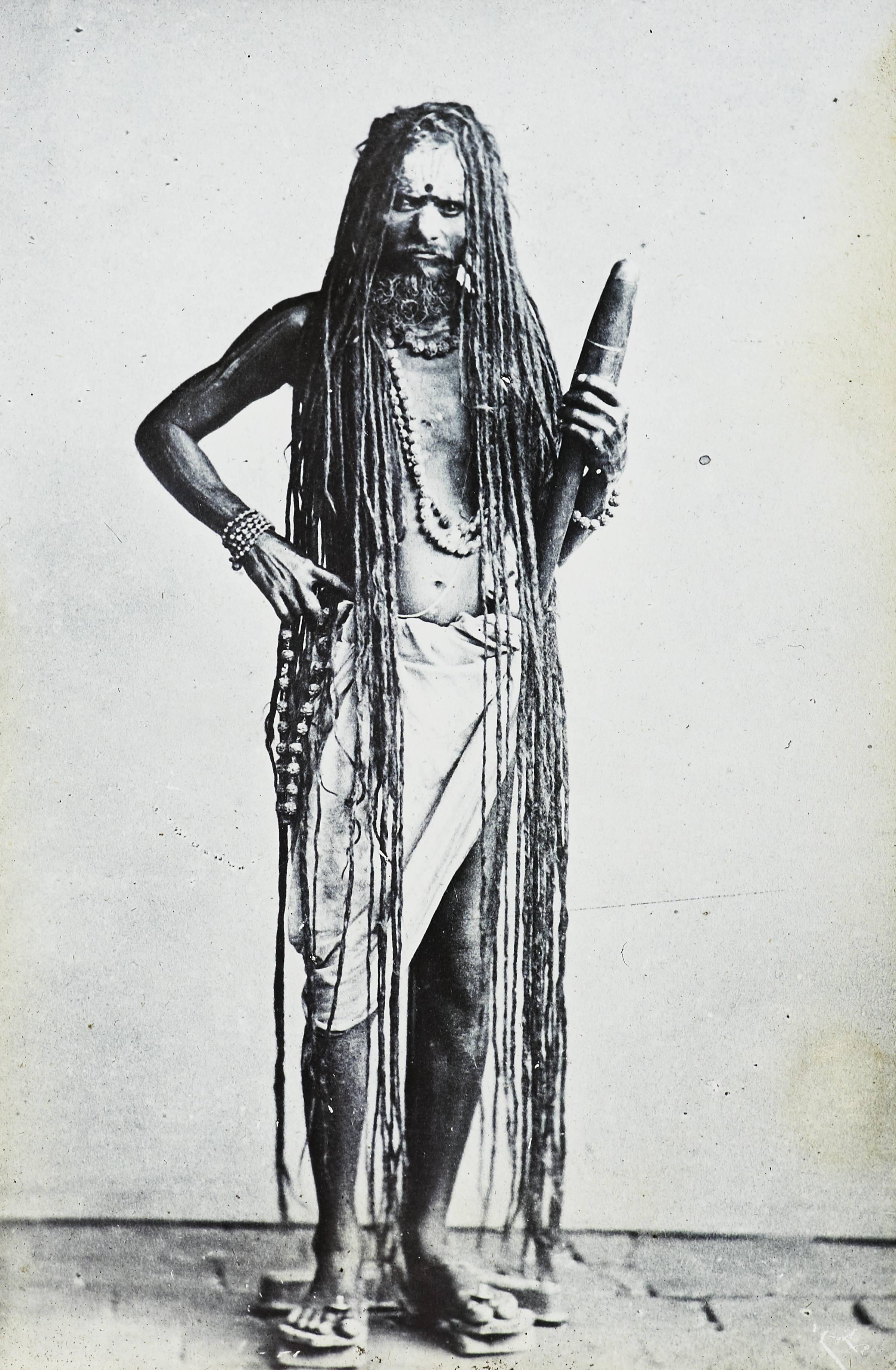 File:Sadhu with long hair, India, ca. 1920 (IMP-CSCNWW33