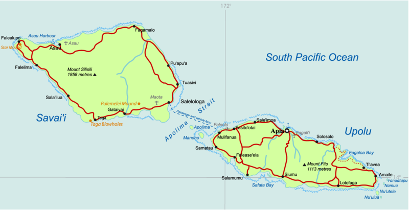 Image:Samoa Country map