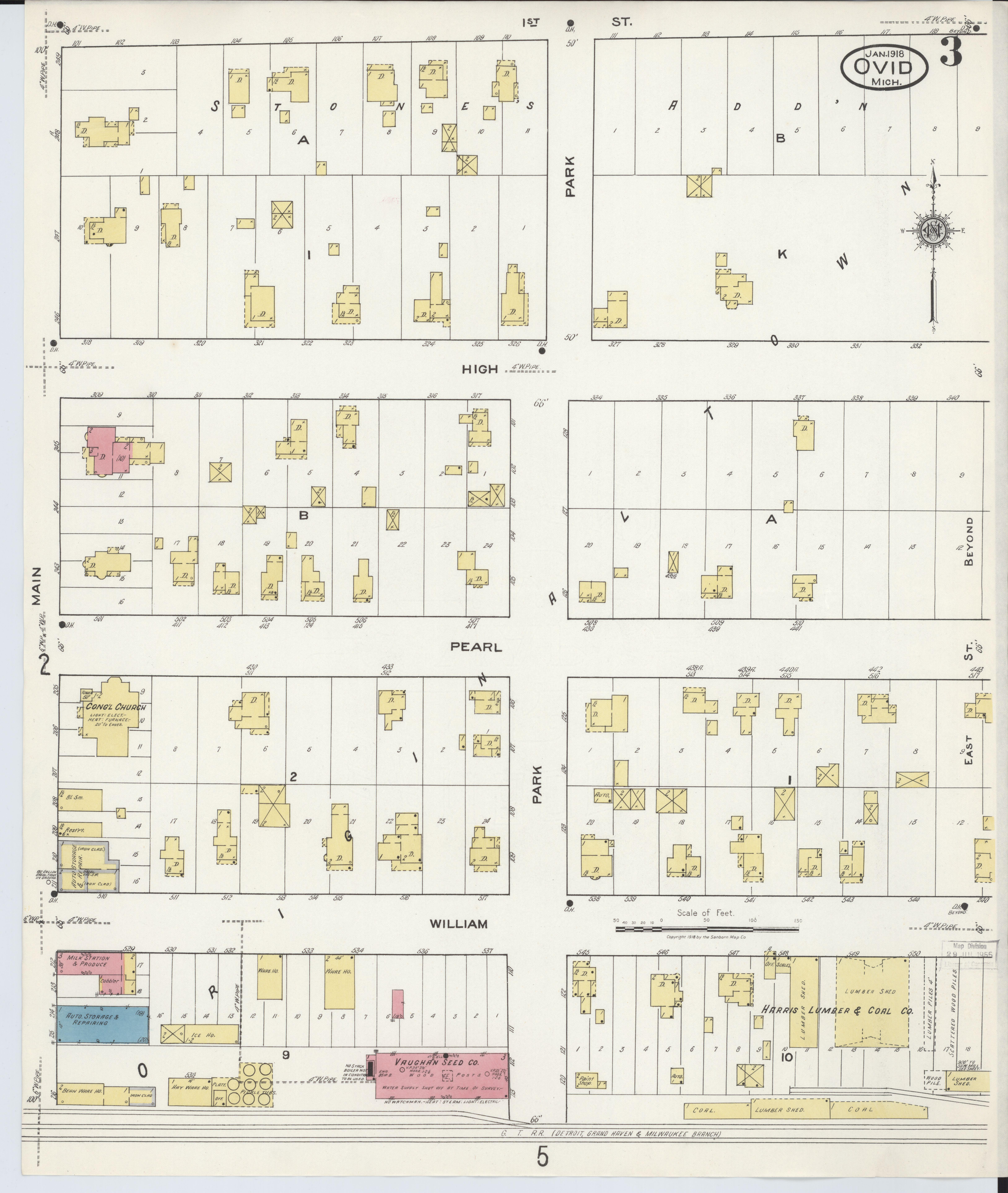 Ovid Michigan Map.File Sanborn Fire Insurance Map From Ovid Clinton County Michigan