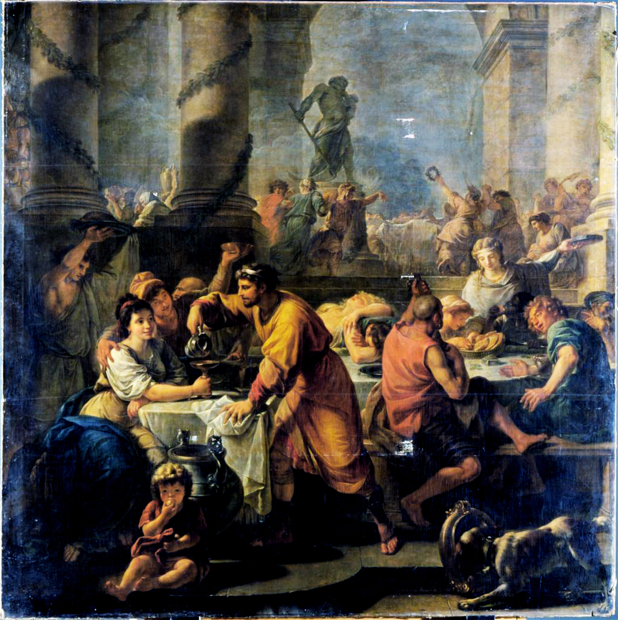 An image depicting what many believed Saturnalia to be like.