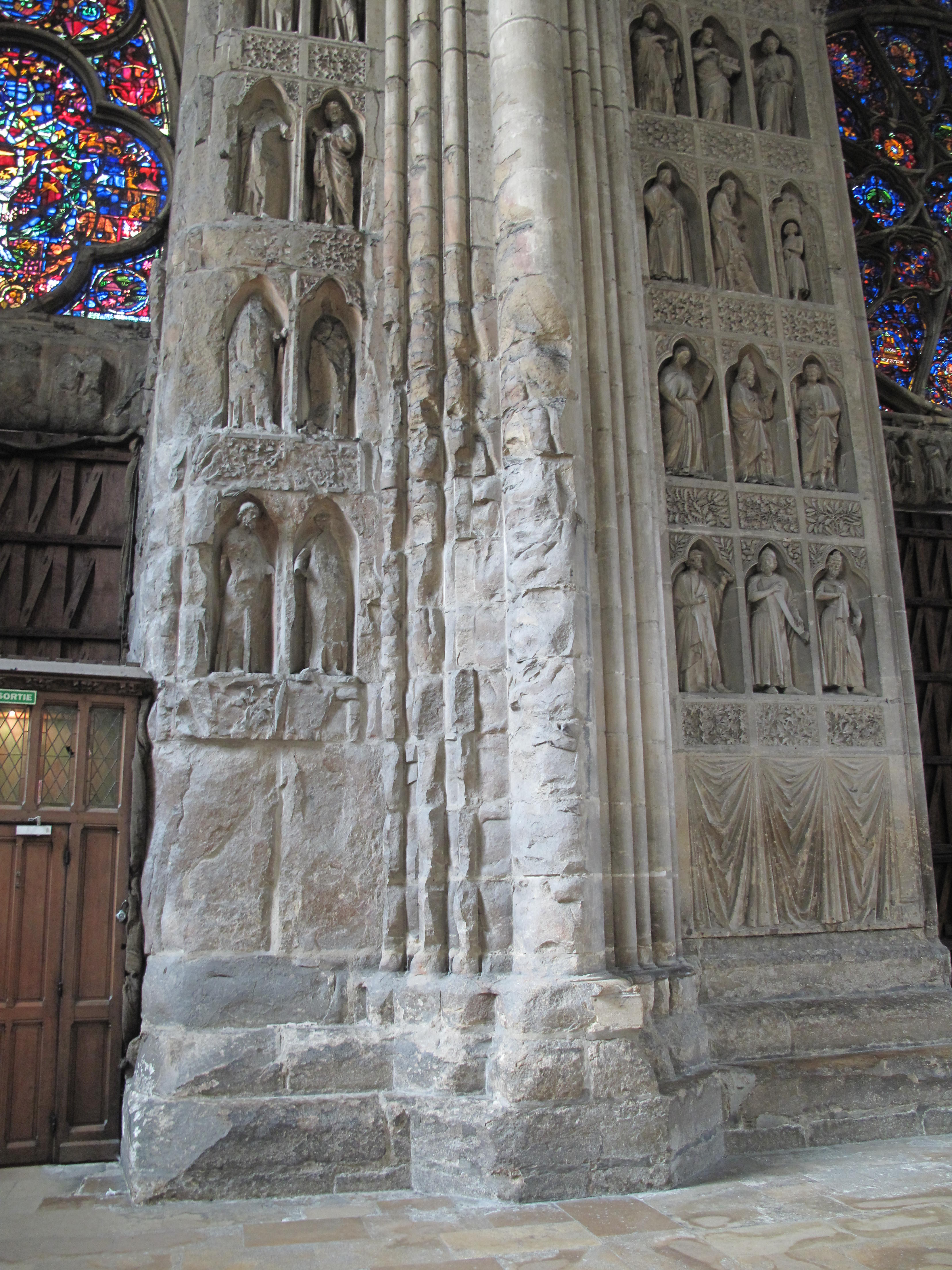 Reims Cathedral Sculpture Inside The Reims Cathedral