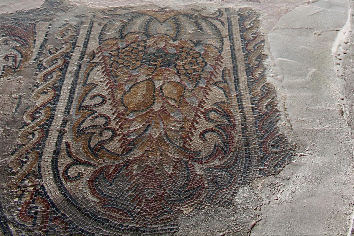 Мозаика с гроздьями.