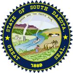 The South Dakota state seal.