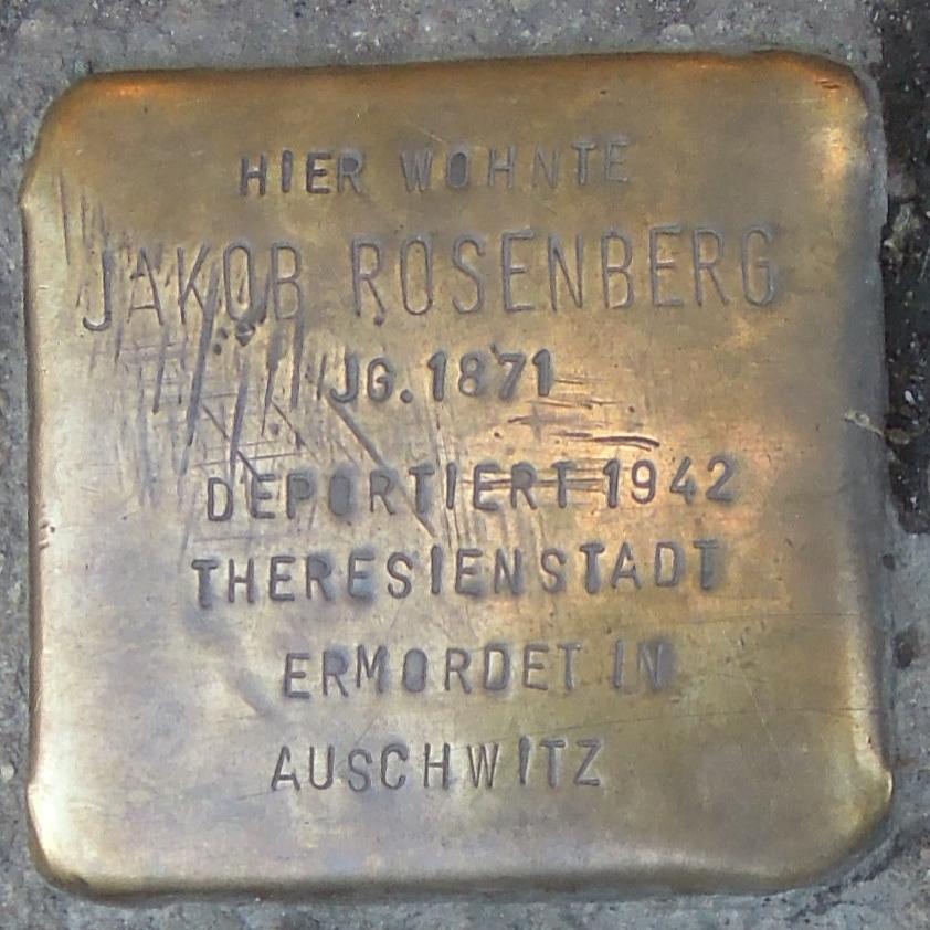 Stolpersteine in Soest Bruederstraße 32 Jakob Rosenberg