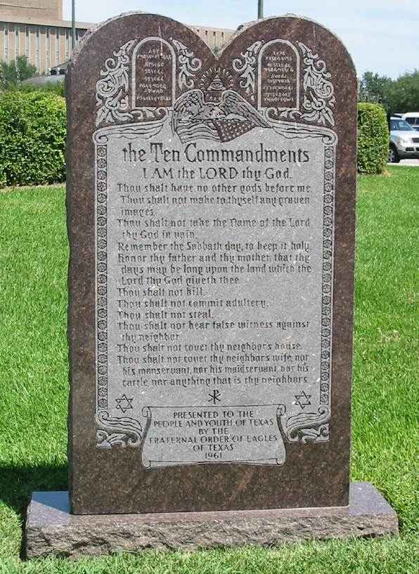Image result for Ten Commandments Arkansas