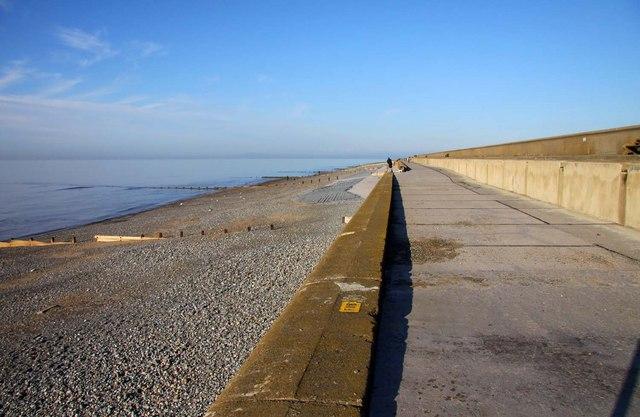 The Lancashire Coastal Way on the sea wall - geograph.org.uk - 1593229