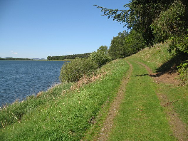 Track beside Portmore Reservoir - geograph.org.uk - 1501080