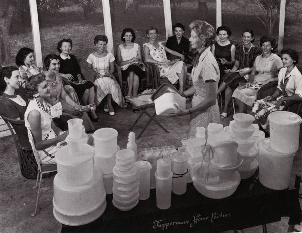 Réunion Tupperware en 1958