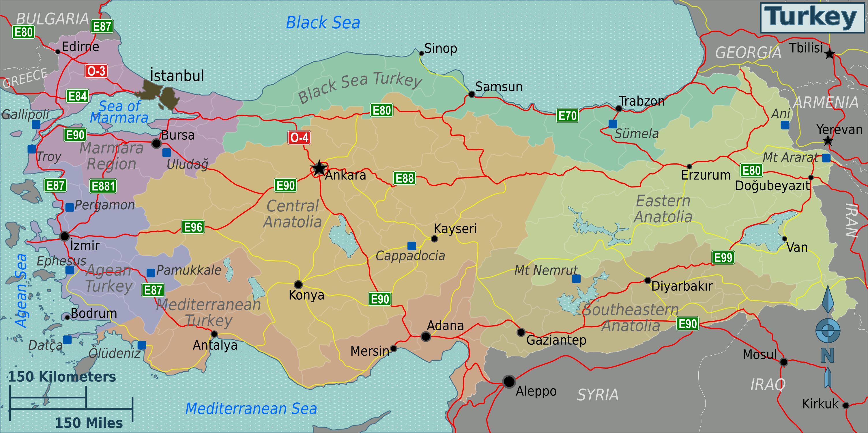 pin turkey map on-#10