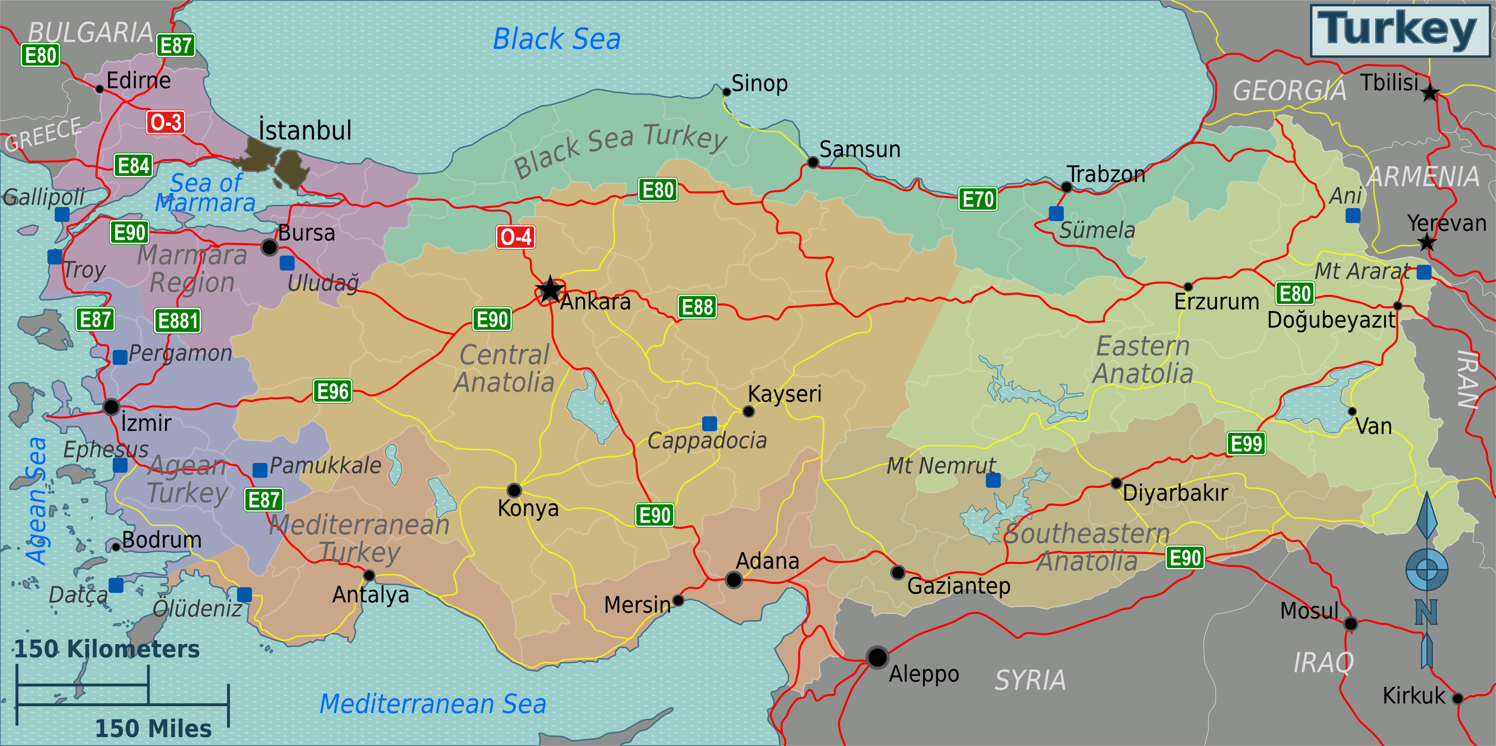 pin turkey map on - photo #9
