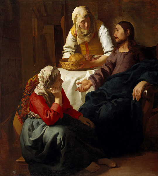 English: Johannes Vermeer's Christ in the Hous...