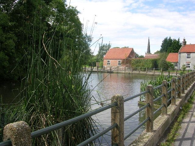 Village pond, Huggate