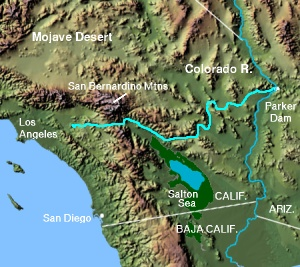 Map of the Colorado River Aqueduct