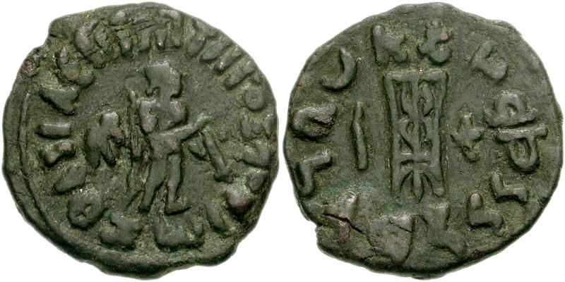 zoilos ii coin with apollo and small elephant behind him.jpg